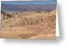 Zabriskie Point Panorama Greeting Card