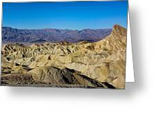 Zabriskie Point Panoramic Greeting Card