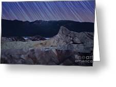 Zabriskie Point Star Trails Greeting Card by Jane Rix