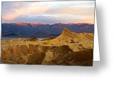 Zabriskie Point Sunrise Death Valley Greeting Card