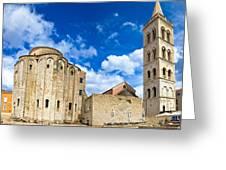 Zadar Cathedral Famous Landmark Of Croatia Greeting Card