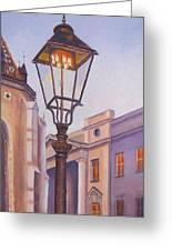 Zagreb Gaslight - Croatia Greeting Card