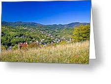 Zagreb Hillside Green Zone Nature Greeting Card