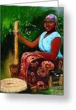 Zambia Woman Greeting Card