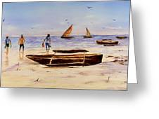 Zanzibar Forzani Beach Greeting Card