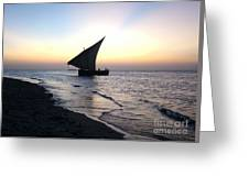 Zanzibar Sunset 20 Greeting Card by Giorgio Darrigo