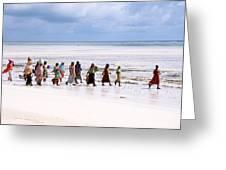 Zanzibar Women 28 Greeting Card
