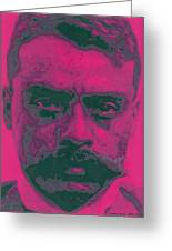 Zapata Intenso Greeting Card by Roberto Valdes Sanchez