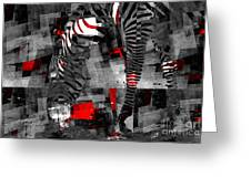 Zebra Art - 56a Greeting Card