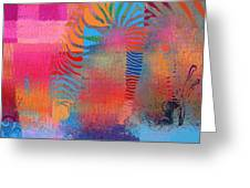 Zebra Art - Mtc077b Greeting Card