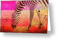 Zebra Art - T1cv2blinb Greeting Card