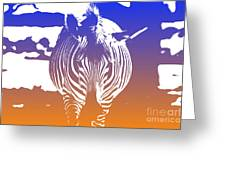 Zebra Crossing V6 Greeting Card