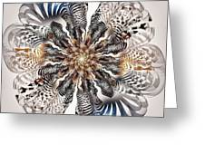 Zebra Flower Greeting Card