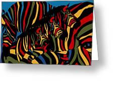 Zebra In The Jungle 2 Greeting Card