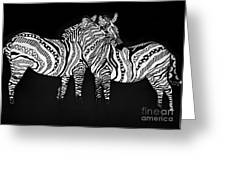 Zebra Love 1 Greeting Card