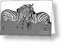 Zebra Love 10 Greeting Card