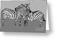 Zebra Love 12 Greeting Card