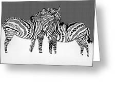 Zebra Love 14 Greeting Card