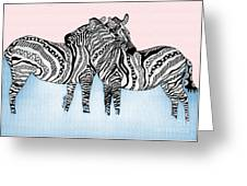 Zebra Love 21 Greeting Card