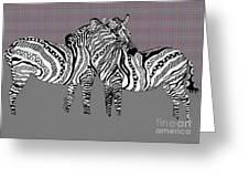 Zebra Love 25 Greeting Card