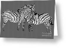 Zebra Love 26 Greeting Card