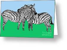 Zebra Love 6 Greeting Card