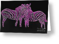 Zebra Love 7 Greeting Card