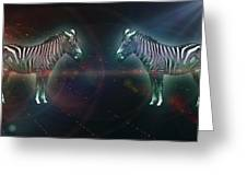 Zebra Nation Greeting Card