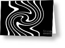 Zebra Pattern Greeting Card by Lali Kacharava