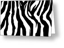 Zebra Print 001 Greeting Card by Kenneth Feliciano