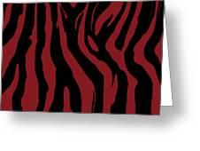 Zebra Print 002 Greeting Card by Kenneth Feliciano