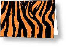 Zebra Print 004 Greeting Card by Kenneth Feliciano