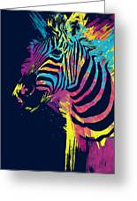 Zebra Splatters Greeting Card