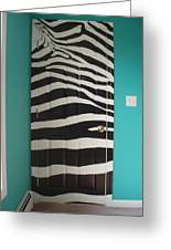 Zebra Stripe Mural - Door Number 2 Greeting Card