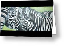 Zebra Triptych General Greeting Card