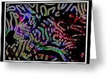 Zebra Twist Greeting Card