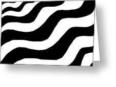 Zebra Waves Greeting Card
