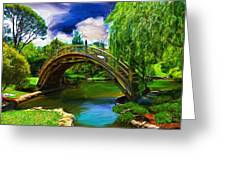 Zen Bridge Greeting Card