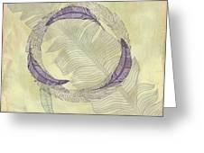 Zen Feather Circle I I I Greeting Card