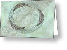 Zen Feather Circle I I Greeting Card