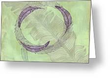 Zen Feather Circle I V Greeting Card