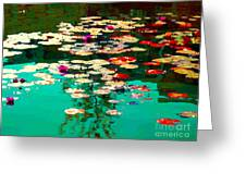 Zen Garden Water Lilies Pond Serenity And Beauty Lily Pads At The Lake Waterscene Art Carole Spandau Greeting Card