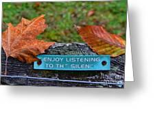 Zen Inner Peace Greeting Card