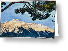 Zen Mountain Greeting Card