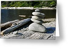 Zen Rocks Greeting Card