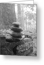 Zen Rocks Greeting Card by Judy  Waller