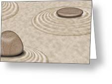 Zen Stones On Sand Garden Circles 2 Greeting Card