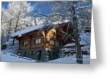 Zermatt Chalet Greeting Card