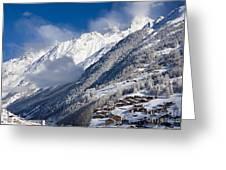 Zermatt Mountains Greeting Card by Brian Jannsen