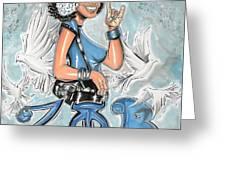 Zeta Phi Beta Sorority Inc Greeting Card by Tu-Kwon Thomas